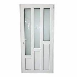 Powder Coated Aluminium Door, Thickness: 5-10 mm