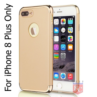 best service d9867 d0182 3 In 1 Ultra Thin Hard Coated Matte Surface Back Cover For Apple Iphone 8  Plus Gold
