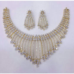 American Diamond Designer Necklace and Earring