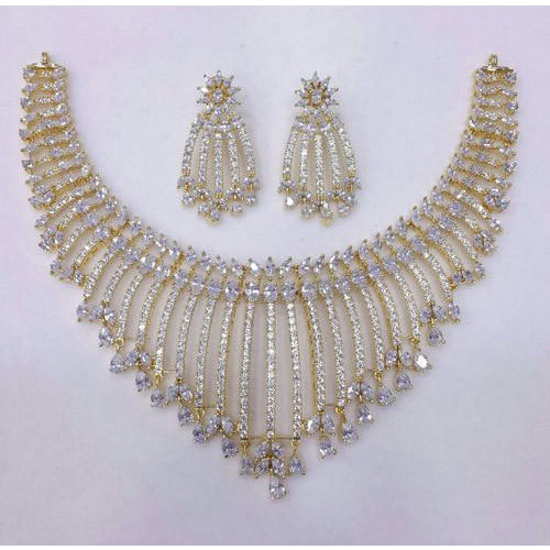 Prakash American Diamond Designer Necklace And Earring Rs 2300