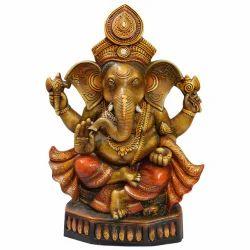 Multicolor Clay Ganesh Statue