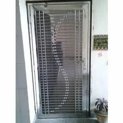 Metal Hinged SS Safety Door, For Home, Size: Standard