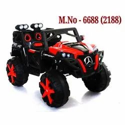 Multicolor Battery Jeep Toy Kids Car, for School/Play School