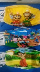 Reusable Vasundhara 3 Ply Multi Color Cotton Kids Face Mask