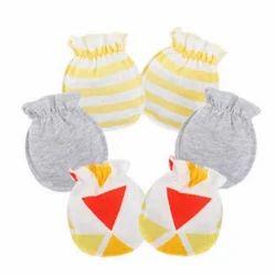 Bibosa Plain And Printed Baby Mitten Gloves