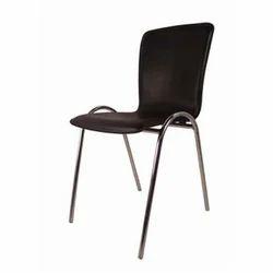 Black SS Modern Armless Chair