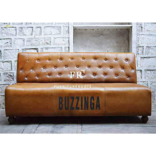Brown Leather Slipper Sofa