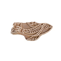 Fish Pattern Wooden Henna Printing Blocks