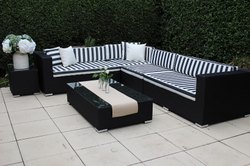 Sectional L Shape Wicker Sofa Set