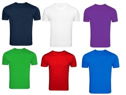 Round Neck Solid Cotton T-Shirt