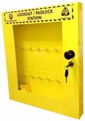 Metal + Powder Coated Lockout Tagout Padlock Station, Multipurpose