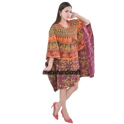 Indian Elephant Camel Kaftan Mandala Women Dress Caftan