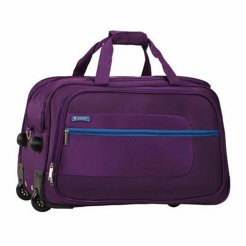 Sonnet Purple Duffle Trolley Bag 06343b73af8ea