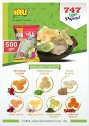 Round White Noble flavoured Rice papad, Packaging Size: 15 Kilo Cartoon