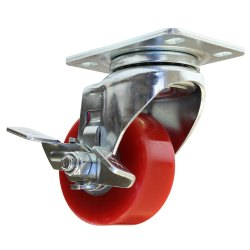 Red PU Caster Wheel