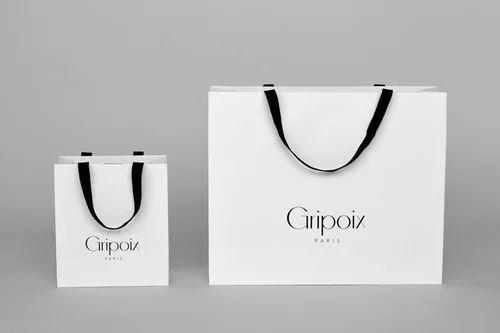 White Paper Printed Shopping Bag