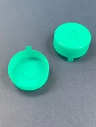 Ldpe Round Green Bubble Top Caps, Size: 20mm Cap Height