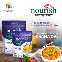 Indian Yellow Nourish Chana Daal, Packaging Size: 1 Kg/500 g, High in Protein