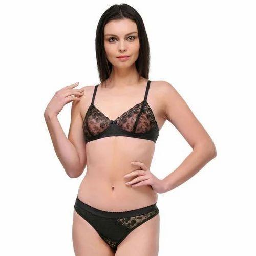 10882eeec27 Lycra Cotton Net Bra Panty Set