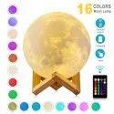 Antifiction 3d Printed Moon Lamp Night Light Lunar Led 16 Colours Remote Beat Mode Touch Ctrl (24cm)