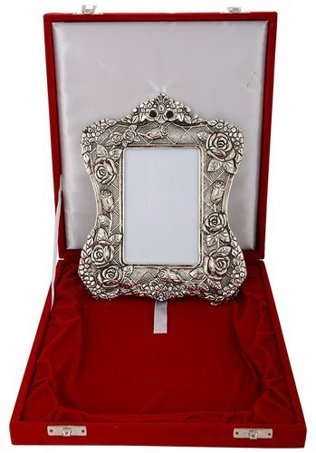 International Gift - Silver Plated Metal Photo Frame, Silver Ki ...
