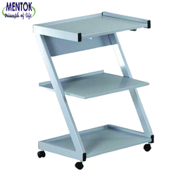 Mentok Hospital Furniture Z Shape Instrument Trolley for Clinic and Hospital