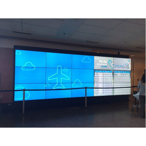 Stainless Steel Wall Mounted 4K Display Video Wall, | ID