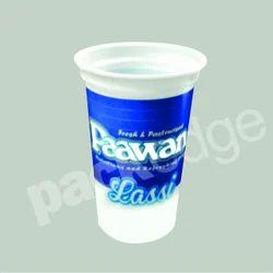 White Plastic 200 ml Disposable Lassi Glass, For Dahi Packaging, Size: 69 Mm Diameter