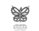 Diamond Butterfly Connector Pendant