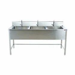 Myson SS Rectangular Three Sink Unit