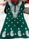 Khadi Cotton Chikankari Work Kurti