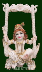 White Marble Bal Krishna Statue
