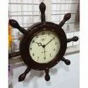 Analogue Polished Antique Wooden Clock