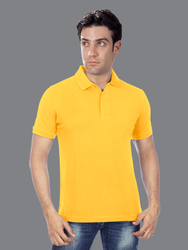 Cotton Plain Half Sleeves T-Shirt Polo Style