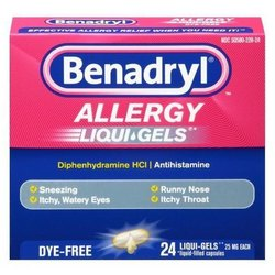 Benadryl Softgel Capsule, Packaging Type: Box