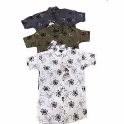 Mens Casual Printed Cotton Shirt, Size: 36-44
