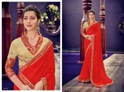 Digital Chiffon Designer Saree