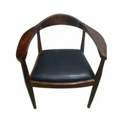 Modern Wooden Arm Dining Chair, No Of Legs: 4