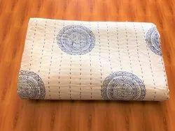 Handmade Hand Block Kantha Quilts