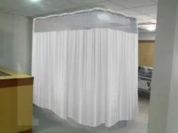 Lushomes Poleyster Full Hospital Curtain, Size: 12 X 7 Ft