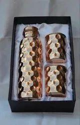 Hammered Bottle Set
