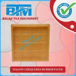 Yellow Chequered Rubber Paver Mould