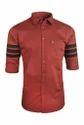 Maroon Designer Casual Shirt
