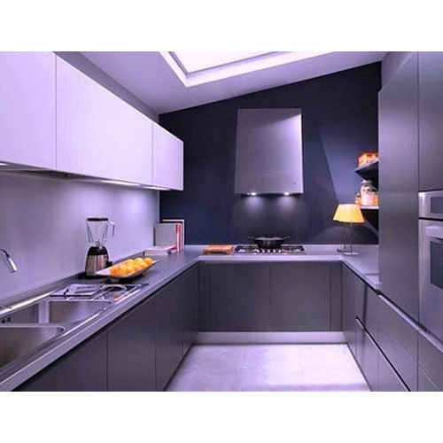 Modern Modular Kitchen Manufacturer From: Wood Modern Modular Kitchen, Rs 600 /feet, Shree Giriraj