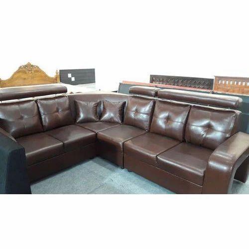 Brown L Shape Sofa Set Rs 45000 Piece Furniture Hub Id 18646335533