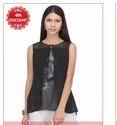 Black Printed Sleeveless Top