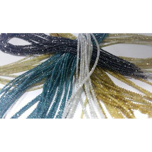 Diamond Faceted Beads Strands
