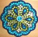 Blue Beaded Coaster