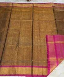 Mehandi Color Uppada Tissar Silk Saree