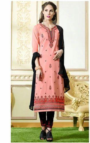 58e786dc6b Party Wear Peach Color Cotton Designer Salwar Kameez, Rs 849 /piece ...